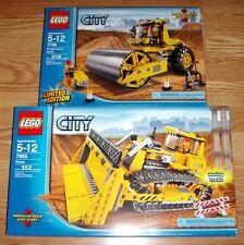 Lego 7685 & 7746 Bulldozer + Single-Drum Roller ** Sealed Boxes
