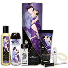 Shunga Carnal Pleasures Gift Set Erotic Art Perfect for Her Massage Candle Oil