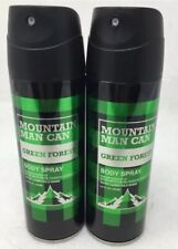 Green Forest 6 Oz Mountain Man Can Deo Body Spray Men 2 Pack Preferred Fragrance