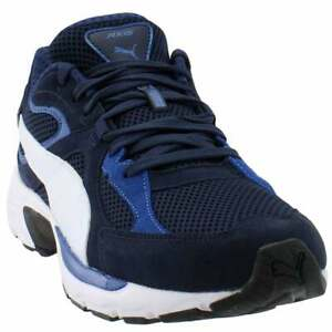 Puma Axis Plus Suede Lace Up  Mens  Sneakers Shoes Casual   - Navy - Size 12 D