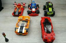 Lego Vehicle lot champions Ferrari 75899, Orange Car,Hovercraft,Go kart & more