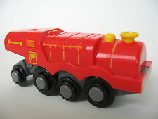 RED Motorised Battery Train Engine for Wooden Track ( Brio Thomas ) ~ NEW