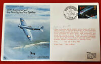 FIRST DAY COVER OF PRE WW2 FIRST FLIGHT SPITFIRE SIGNED TEST PILOT