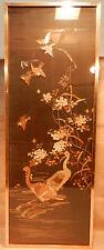 antike Chinesische Seidenstickerei Wandbehang Vögel Gänse gerahmt selten RAR 1