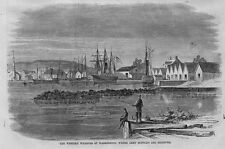 WESTERN WHARVES AT WASHINGTON WHERE ARMY SUPPLIES ARE RECEIVED FISHING SHIPS