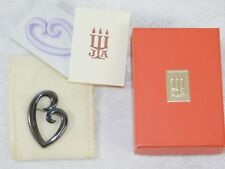 VTG JAMES AVERY STERLING SILVER MOTHER HEART PIN BROOCH w/ BAG BOX PAPERS