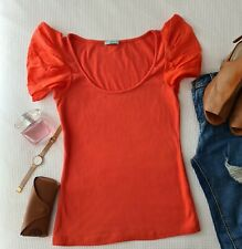 🌸Kookai🌸 Size 2 Orange Top With  Archangel Type Short Sleeves