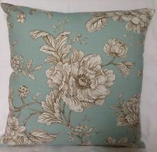 "French Style Shabby Chic Cushion Cover Iliv Fabric ""Aquitaine"" Eau De Nil."