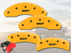 "2004-2008 Toyota Solara Front + Rear Yellow ""MGP"" Brake Disc Caliper Covers 4pc"