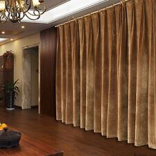 A Pair New Velvet Curtains 2x280x260cm Drop, Camel Colour