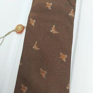 Beretta Silk Tie Game Bird Brown Countryside Sporting