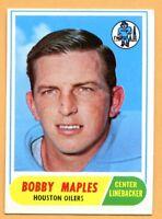 1968 Topps Football #16 Bobby Maples (EX-MT) -- Houston Oilers