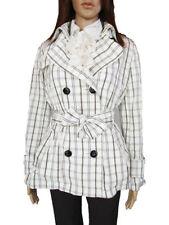 Zara Polyester Button Checked Coats & Jackets for Women