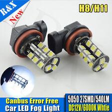2 X H11 CANBUS Error Free 27 SMD 5050 LED Bright White 540LM Fog Light Bulb Lamp