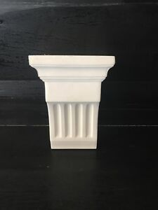 Plaster Corbel. Price For Pair. Large Fluted.