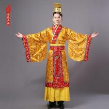 Chinese Man Han Clothing Emperor Hanfu Prince Show Cosplay Suit Robe Costume New