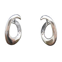 Stylish Plain Sterling Silver Earrings Genuine Solid Hallmarked 925