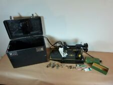 VINTAGE SINGER FEATHERWEIGHT 221 K BLACK 1957 + ATTACHMENTS+GREASE+KEY+SCREW DRI