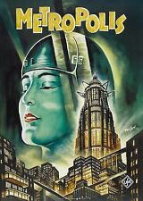 VINTAGE ART DECO METROPOLIS 1927 FILM A4 GLOSSY PHOTO POSTER REPRINT NEW #5