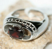 Women's Designer Solid Sterling Silver 2.5 ctw Solitaire Garnet New Ring Sz 7