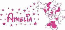 Minnie Mouse Personalised name wall sticker Large any Girls name  room design