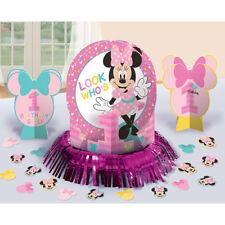 1ST Minnie Mouse Table Decorating Kit 23 Piece Centerpiece Party Supplies