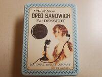 Nabisco OREO SANDWICH Tin! Replica of 1918 Ad! Vintage 1986! Great Condition!