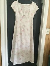 Custom Regency Dress Jane Austin P&P Emma  Empire waist dress Cotton SZ M Pink