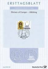 Germany 2016: Black Madonna Guidebook! first-day Sheet NR 3240! Bonner Stamp 1606