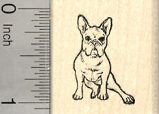 French Bulldog Rubber Stamp, Sitting, Small D26822 WM