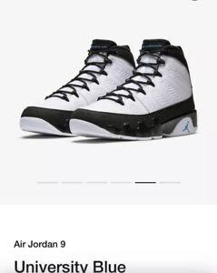 Nike Air Jordan 9 University Blue Retro Og Men Size 10 NIB SNKRS Deadstock Proof