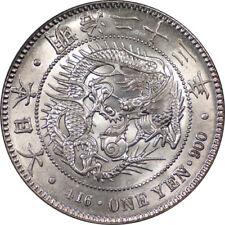 Japan 1890 (Year 23) Silver Yen PCGS MS-63