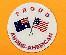 PROUD AUSSIE - AMERICAN FRIDGE MAGNET AUSTRALIAN SOUVENIR GIFT AMERICA