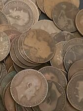 1000 ENGLISH OLD PENNY COINS FROM 1860 TO 1967