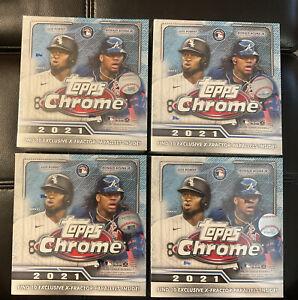 2021 Topps Chrome MLB Baseball Mega Box Sealed LOT OF 4!!!!!
