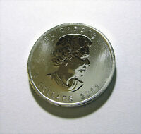 2011 $5 Maple Leaf Canada 1oz .9999 Fine Silver Coin from 25 Tube Roll