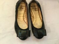Kate Spade Women's Ballet Flats Black Patent Leather Bow Size 10 M