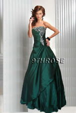 JUST DIVINE! STRAPLESS BEADED FORMAL/EVENING/PROM/BALL GOWN; GREEN AU 20/US 18