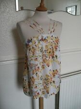 Laura Lees at Topshop Fab Cotton top Skulls multiple straps Fab yellow top Small