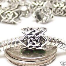 Celtic Knot Bead Spacer Large Hole Slider fits European Charm Bracelet