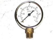 Mànomètre de pression 12 Bars-160 Lbf/in²-diamètre 52mm-WHITWORTH 19G