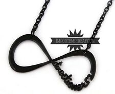 ONE DIRECTION COLLANA NERA ciondolo Directioner Necklace infinito collier black