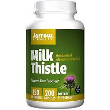JARROW - MILK THISTLE - 150mg x 200 CAPS - SILYMARIN EXTRACT LIVER DETOX TABLETS