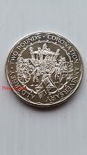 1993 * UNC * baliato di ALDERNEY 40TH anniversario dell'incoronazione £ 2 Due Pound