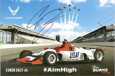 2018 CONOR DALY signed INDIANAPOLIS 500 HERO PHOTO CARD INDY CAR USAF Air Force
