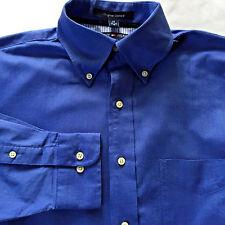 Tommy Hilfiger Mens 15 - 32/33 Original Oxford Shirt Blue Long Sleeve Button Dn