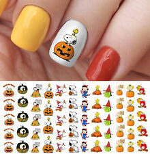 Snoopy The Great Pumpkin Charlie Brown Peanuts Halloween Nail Art Decals