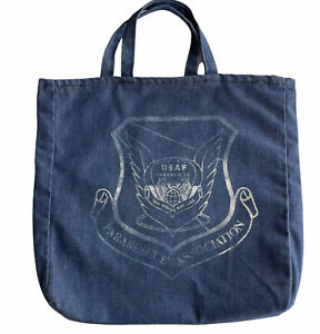 """USAF Pararescue Blue Denim Tote Bag """"That Others May Live"""" Handmade Air Force"""