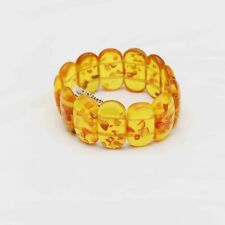 Natural genuine Baltic Amber jewelry yellow stone bracelet