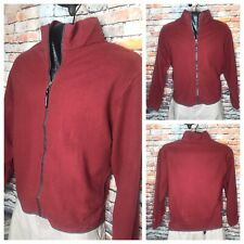 Woolrich John Rich Bros Mens Full Zip 100 Wool Light Jacket Medium Red